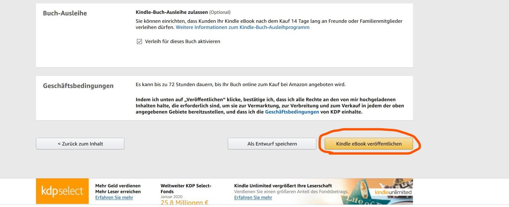 Amazon ebook preis ändern