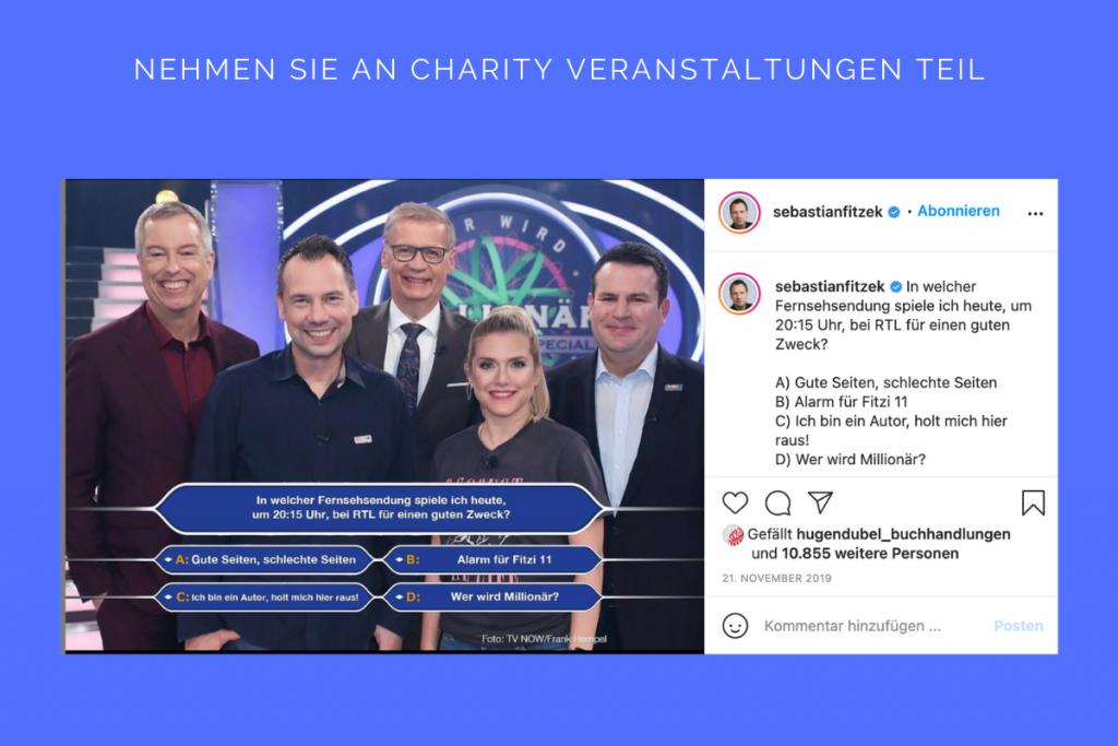 Nehmen Sie an Charity Veranstaltungen teil